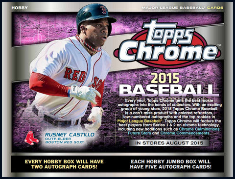 LIVE THURS. 8/20/15 - 2015 Topps Chrome BB 12-Box Hobby Case Break - Random Teams (24 Spots)
