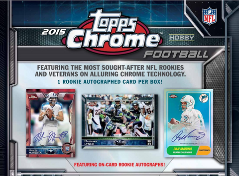 #2 2015 Topps Chrome FB 12-box Break - Random Teams (26 Total Spots)