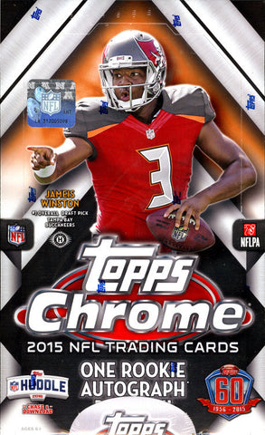 12/20/15 SUNDAY 2015 Topps Chrome FB 12-box Break - Random Teams (26 Total Spots)
