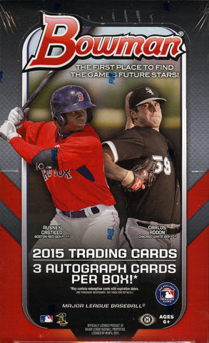 2015 Bowman Baseball Jumbo 8 Box Case