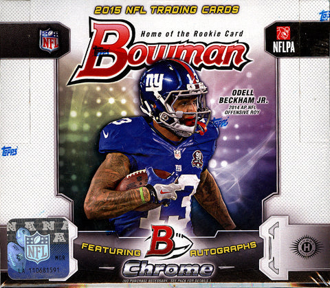 2015 Bowman Football Hobby 10-Box Case Break - Random Teams