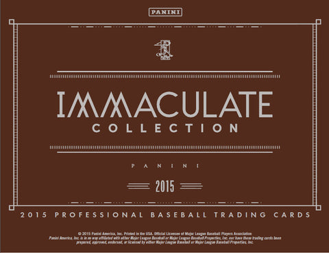 8/28/15 - 2015 Immaculate Baseball Case Break #1 - Random Teams