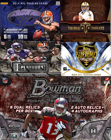 2014 NFL 5-BOX MIXER OVER 20 HITS!!!