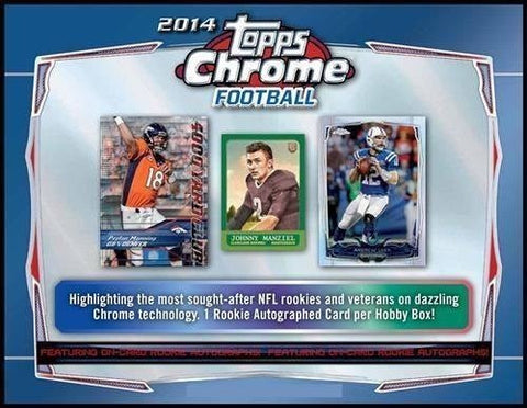 2014 Topps Chrome Football 12-box Case Break - Pick Your Team