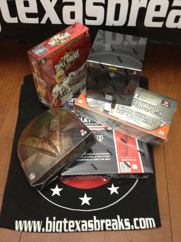 FOOTBALL 5-BOX LIVE 9/11 Wed. 1030pm-CT 2012 Playbook, BLACK, Bowman Sterling, Valor, Triple Threads - Random Teams Break