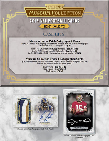 2013 Topps Museum Collection Football Case Spot - RAZZ #1