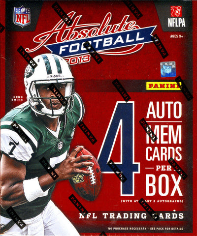 LIVE SATURDAY 4/19 @7:30pm-CT FOOTBALL 2013 Absolute & Totally Certified 2-box Break Random DIVISION per Spot