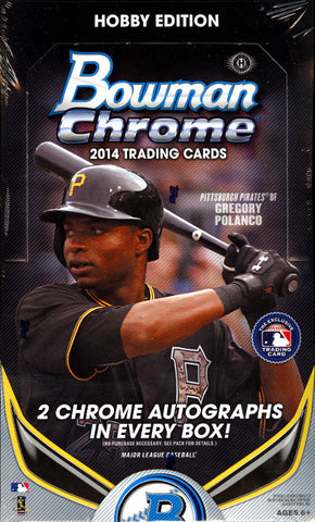 2014 Bowman Chrome Baseball Hobby PC BOX