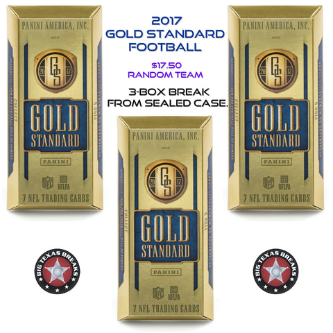 #3 2017 Gold Standard 3-box Break - RANDOM TEAMS (32 Total Spots)