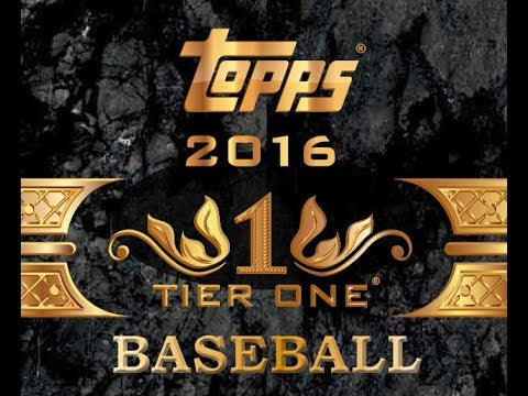 LIVE at NATIONAL 2016 Topps Tier One Baseball 12-Box Case Break - Pick Your Teams Break (YANKEES RANDOMIZED TO SPOT IN THE BREAK)