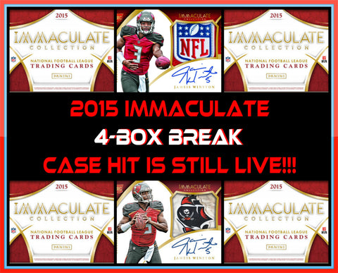 2015 Panini Immaculate FB 4-box Break - Random Teams