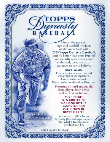 2015 Topps Dynasty Baseball 5-box Case Break - Random Player (154 Total Spots)