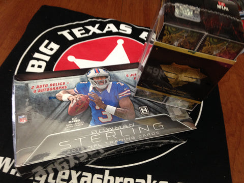 NFL 2-box Mixer '13 Bowman Sterling & Triple Threads - 2Random Teams per Spot