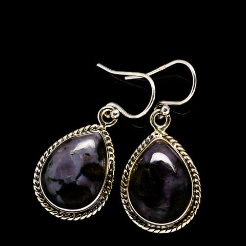 Gabbro Stone Earrings handcrafted by Ana Silver Co - EARR392450
