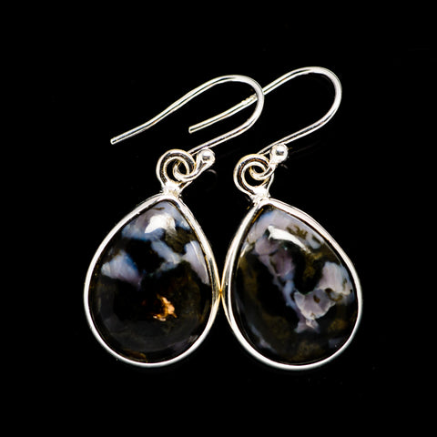Gabbro Stone Earrings handcrafted by Ana Silver Co - EARR392530