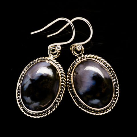 Gabbro Stone Earrings handcrafted by Ana Silver Co - EARR392565