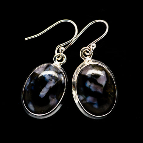Gabbro Stone Earrings handcrafted by Ana Silver Co - EARR392621