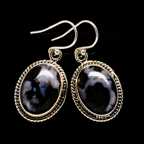 Gabbro Stone Earrings handcrafted by Ana Silver Co - EARR392622
