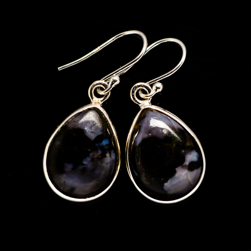 Gabbro Stone Earrings handcrafted by Ana Silver Co - EARR392641