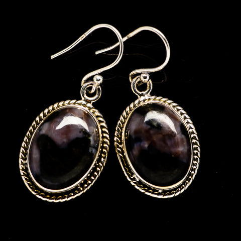 Gabbro Stone Earrings handcrafted by Ana Silver Co - EARR392660