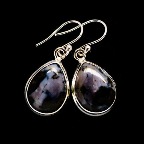Gabbro Stone Earrings handcrafted by Ana Silver Co - EARR392662