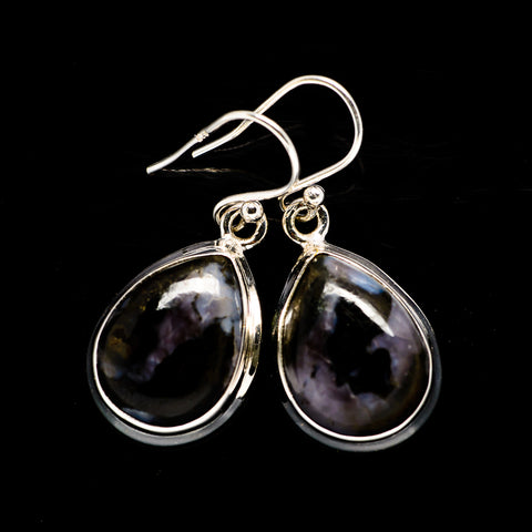 Gabbro Stone Earrings handcrafted by Ana Silver Co - EARR392714