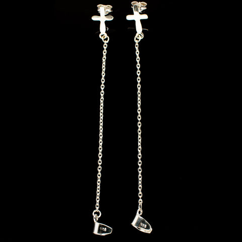 Cross Earrings handcrafted by Ana Silver Co - EARR392910