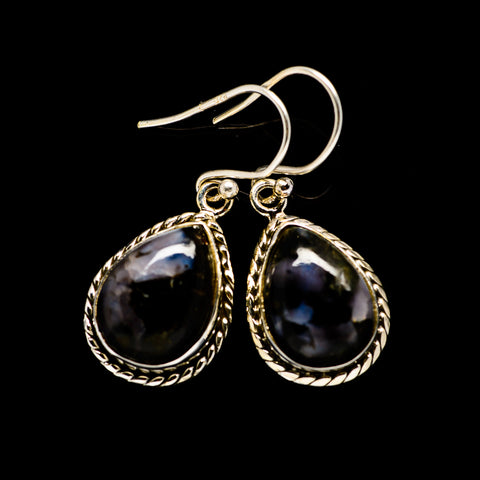 Gabbro Stone Earrings handcrafted by Ana Silver Co - EARR393516