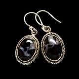 Gabbro Stone Earrings handcrafted by Ana Silver Co - EARR393578