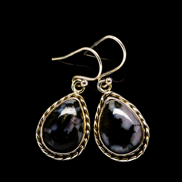 Gabbro Stone Earrings handcrafted by Ana Silver Co - EARR393658