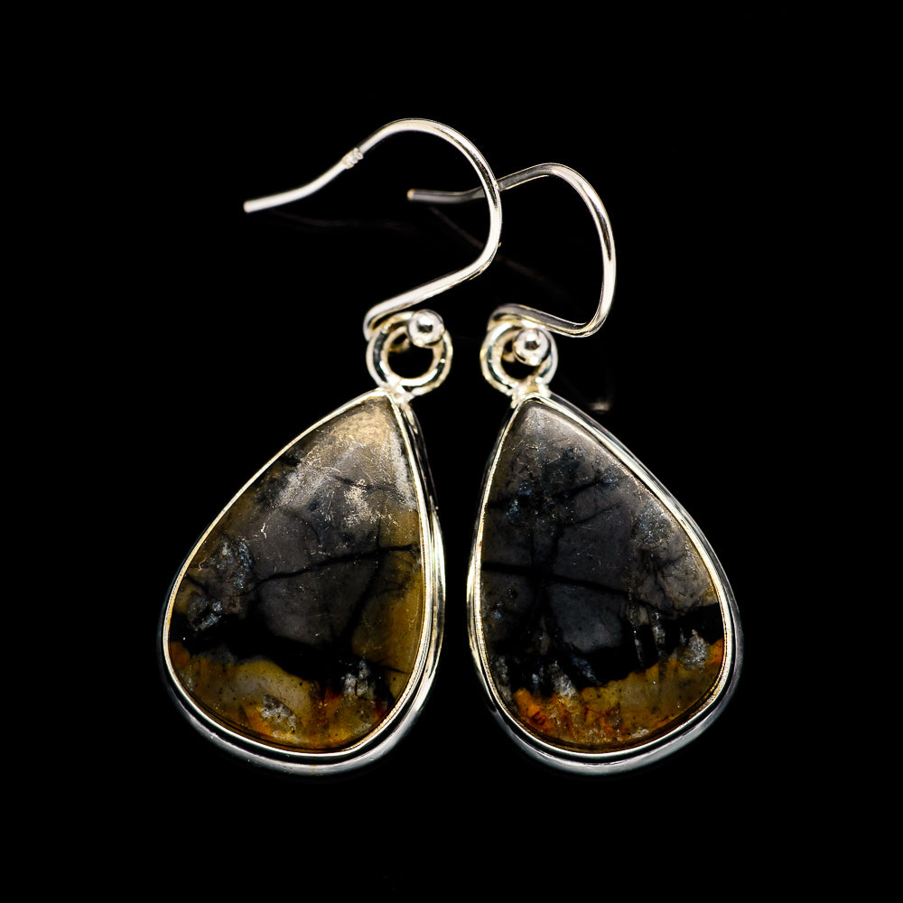 Picasso Jasper Earrings handcrafted by Ana Silver Co - EARR395124
