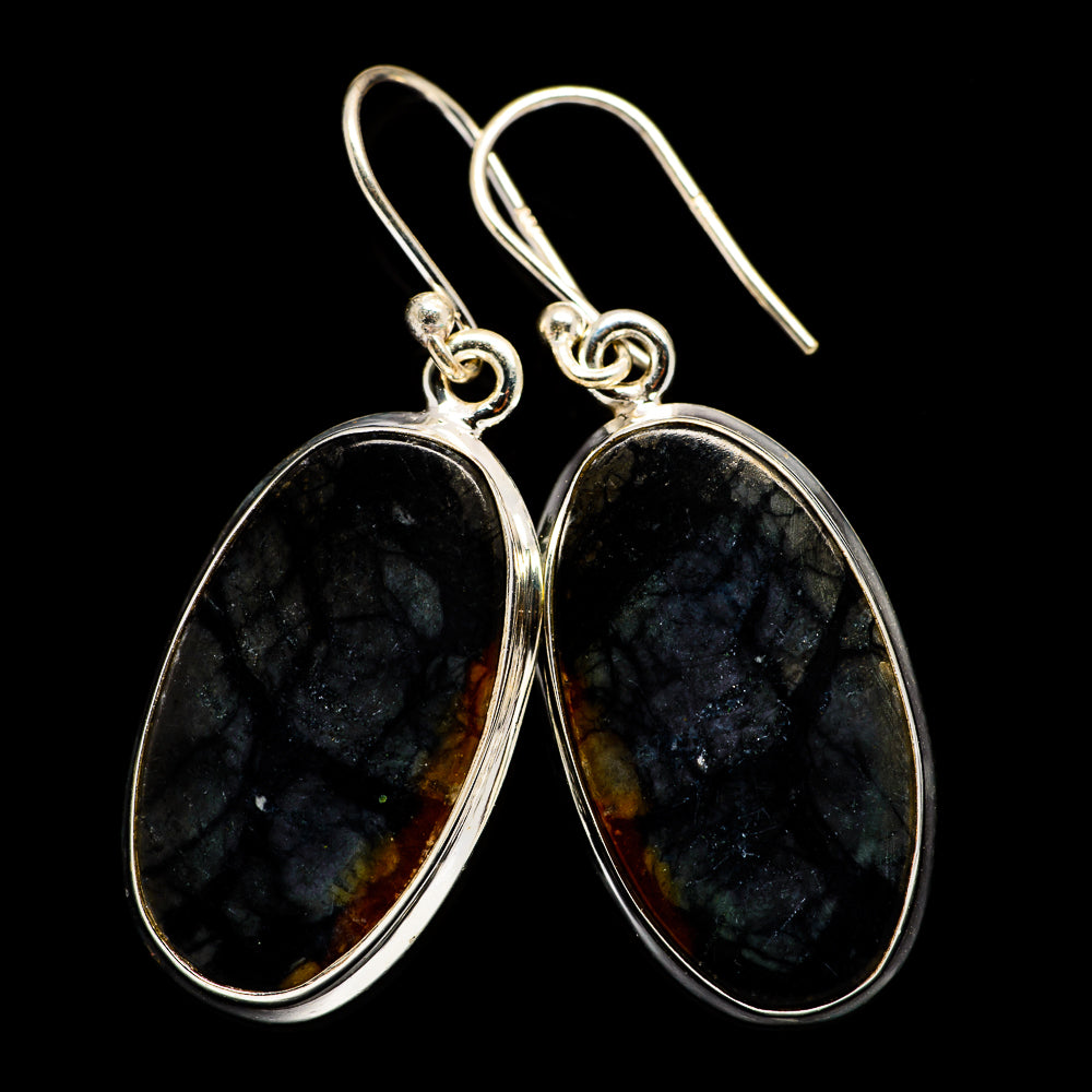 Picasso Jasper Earrings handcrafted by Ana Silver Co - EARR397674