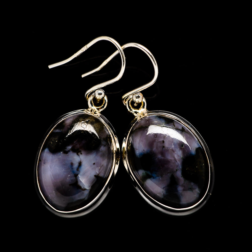 Gabbro Stone Earrings handcrafted by Ana Silver Co - EARR399248