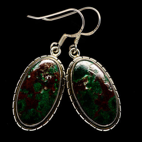 Chrysocolla Earrings handcrafted by Ana Silver Co - EARR399612