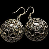 Floral Pattern Earrings handcrafted by Ana Silver Co - EARR400375