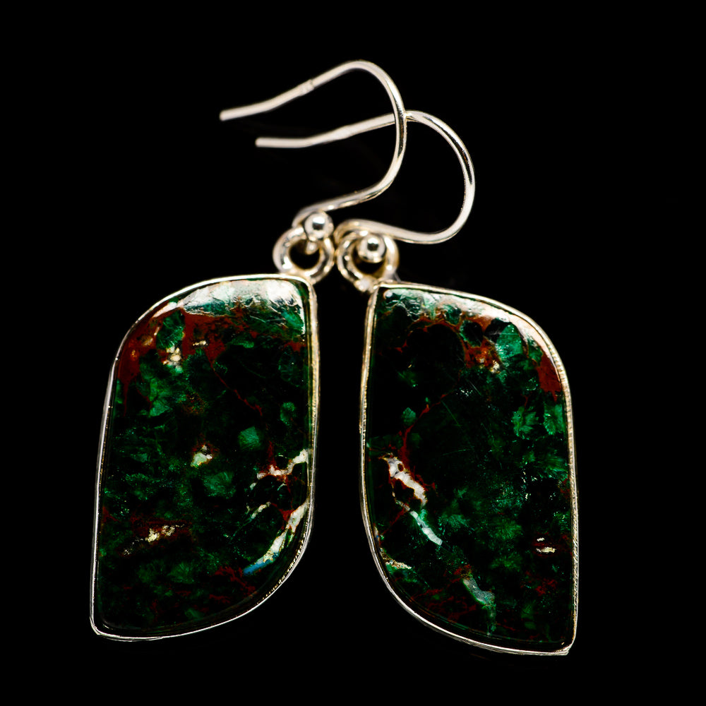 Chrysocolla Earrings handcrafted by Ana Silver Co - EARR400750