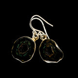 Coconut Geode Druzy Earrings handcrafted by Ana Silver Co - EARR400935