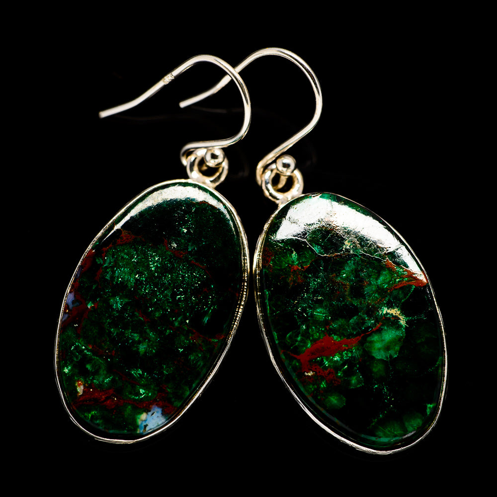 Chrysocolla Earrings handcrafted by Ana Silver Co - EARR401053