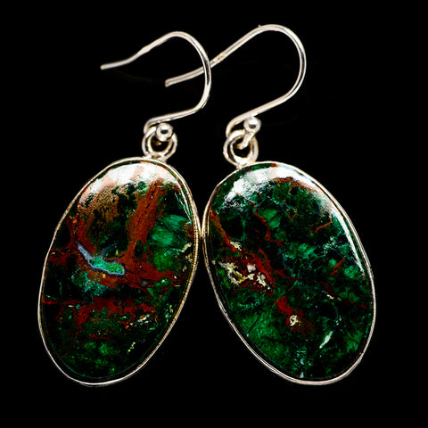 Chrysocolla Earrings handcrafted by Ana Silver Co - EARR401276