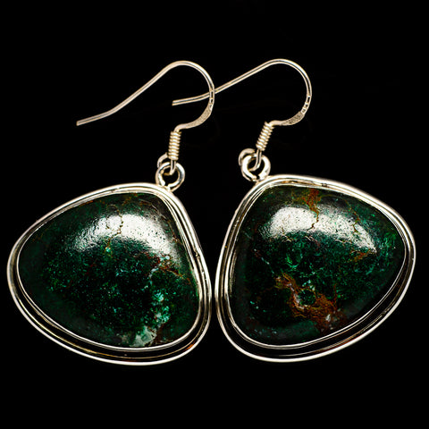 Chrysocolla Earrings handcrafted by Ana Silver Co - EARR401941