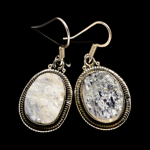 Rainbow Moonstone Earrings handcrafted by Ana Silver Co - EARR402023