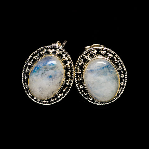Rainbow Moonstone Earrings handcrafted by Ana Silver Co - EARR402100