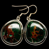 Chrysocolla Earrings handcrafted by Ana Silver Co - EARR402127