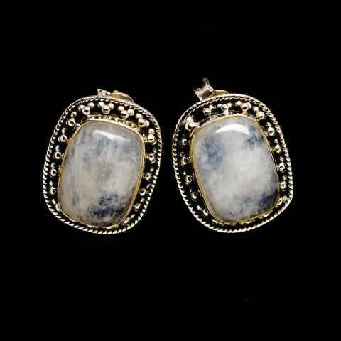 Rainbow Moonstone Earrings handcrafted by Ana Silver Co - EARR402148