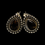 Golden Seraphinite Earrings handcrafted by Ana Silver Co - EARR402652