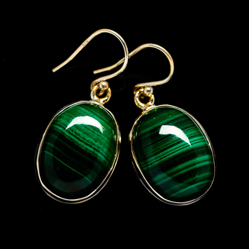 Malachite Earrings handcrafted by Ana Silver Co - EARR403133