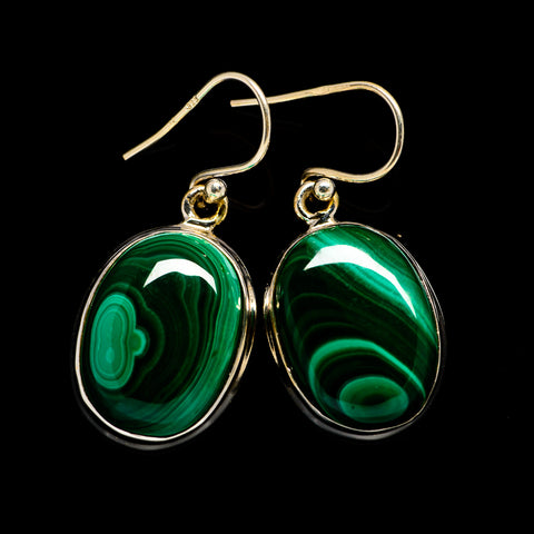 Malachite Earrings handcrafted by Ana Silver Co - EARR403196