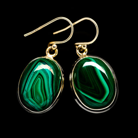 Malachite Earrings handcrafted by Ana Silver Co - EARR403249