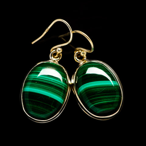 Malachite Earrings handcrafted by Ana Silver Co - EARR403268