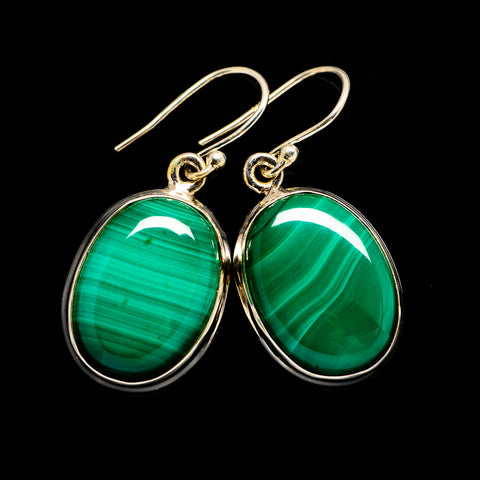 Malachite Earrings handcrafted by Ana Silver Co - EARR403380